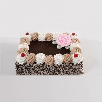עוגות טורט-C רבע פלטה כושית מקושטת – פרווה